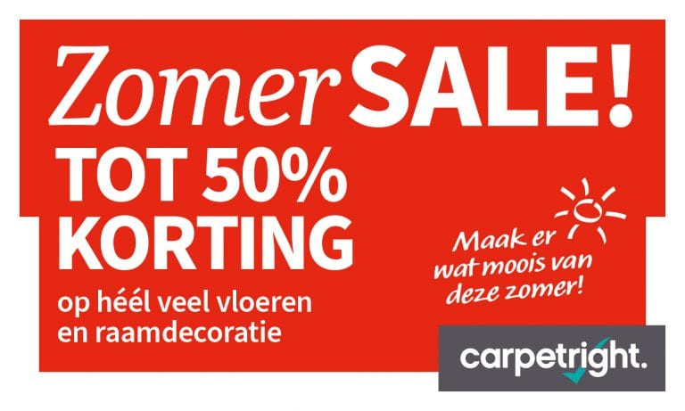 Carpetright: 50% ZomerSALE